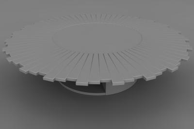 A prototype sunburst table for a Cambridge residence [1309]