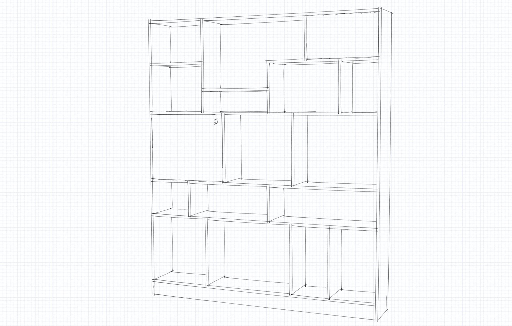Custom bookcase Uttlesford [1535]